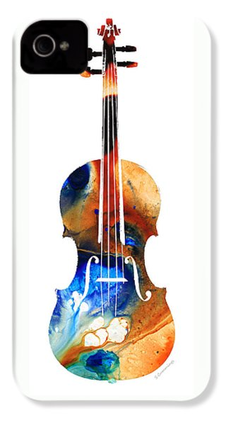 Violin Art By Sharon Cummings IPhone 4 Case