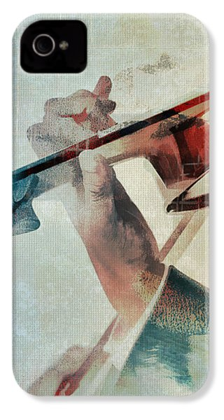 Violinist IPhone 4 Case by David Ridley