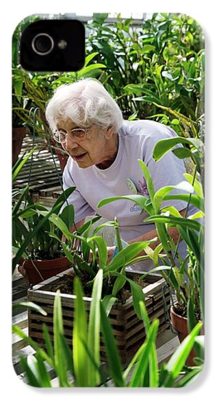 Volunteer At A Botanic Garden IPhone 4 Case by Jim West