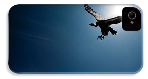 Vulture Flying In Front Of The Sun IPhone 4 Case by Johan Swanepoel