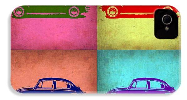 Vw Beetle Pop Art 1 IPhone 4 / 4s Case by Naxart Studio