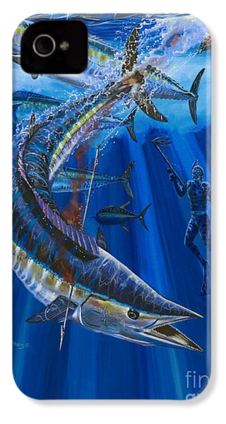 Wahoo Spear IPhone 4 Case by Carey Chen