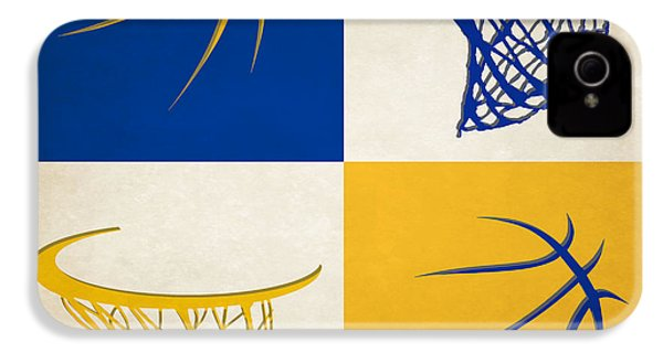 Warriors Ball And Hoop IPhone 4 Case by Joe Hamilton