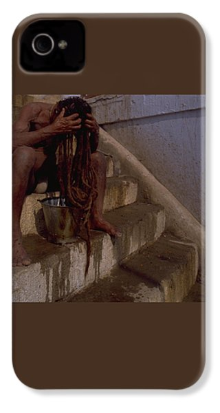IPhone 4 / 4s Case featuring the photograph Varanasi Hair Wash by Travel Pics
