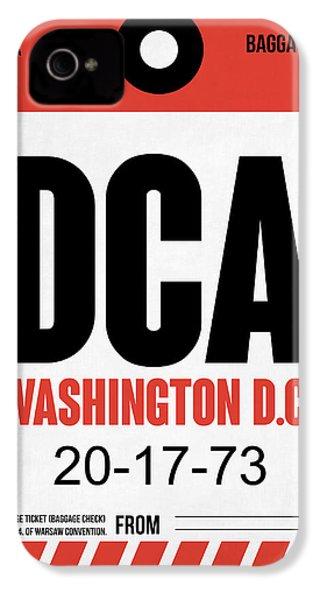 Washington D.c. Airport Poster 1 IPhone 4 Case by Naxart Studio