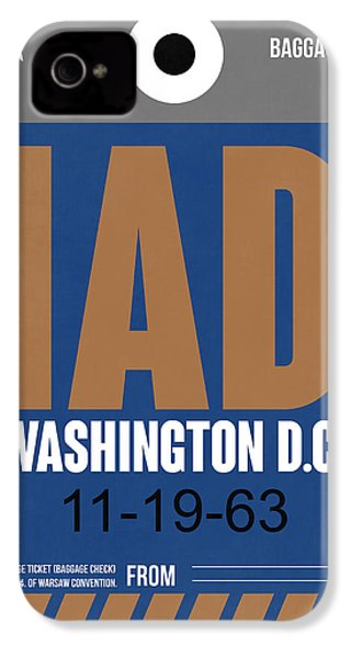 Washington D.c. Airport Poster 4 IPhone 4 Case by Naxart Studio