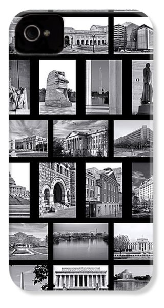 Washington Dc Poster IPhone 4 Case by Olivier Le Queinec