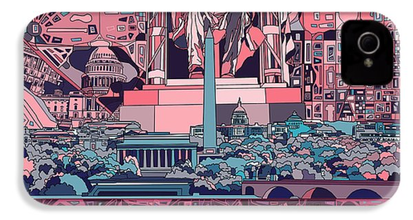 Washington Dc Skyline Abstract 2 IPhone 4 Case