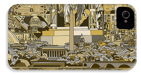 Washington Dc Skyline Abstract 4 IPhone 4 Case