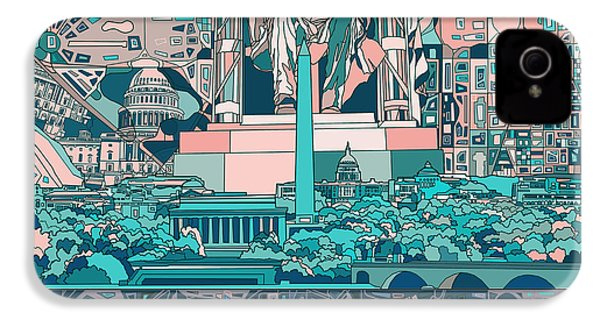 Washington Dc Skyline Abstract 5 IPhone 4 Case