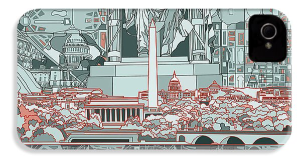 Washington Dc Skyline Abstract IPhone 4 Case