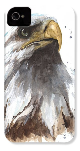 Watercolor Eagle IPhone 4 Case by Alison Fennell