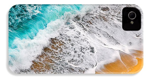 Waves Abstract IPhone 4 Case by Silvia Ganora