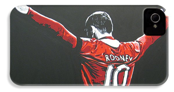 Wayne Rooney - Manchester United Fc 2 IPhone 4 / 4s Case by Geo Thomson