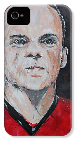Wayne Rooney IPhone 4 Case by John Halliday