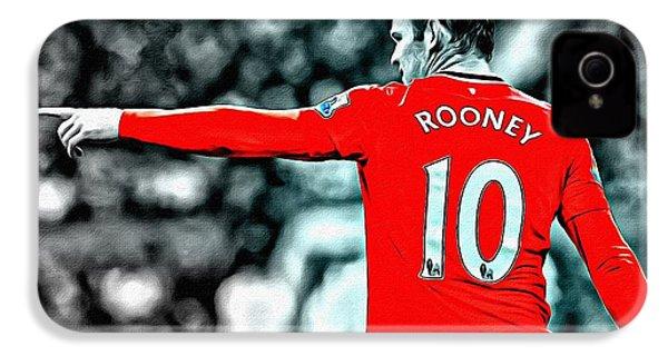 Wayne Rooney Poster Art IPhone 4 Case by Florian Rodarte