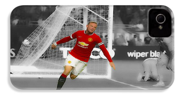 Wayne Rooney Scores Again IPhone 4 / 4s Case by Brian Reaves