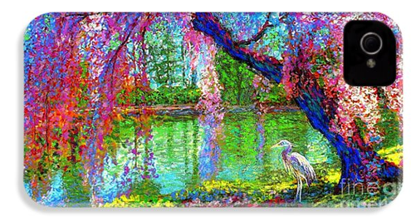 Weeping Beauty, Cherry Blossom Tree And Heron IPhone 4 Case