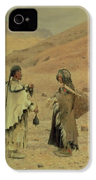 West Tibetans, 1875 Oil On Canvas IPhone 4 Case by Piotr Petrovitch Weretshchagin