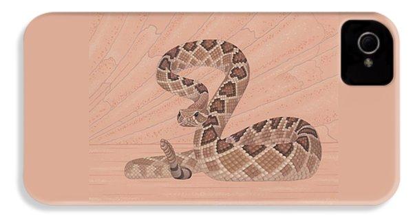 Western Diamondback Rattlesnake IPhone 4 Case