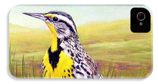 Western Meadowlark IPhone 4 Case by Tom Chapman