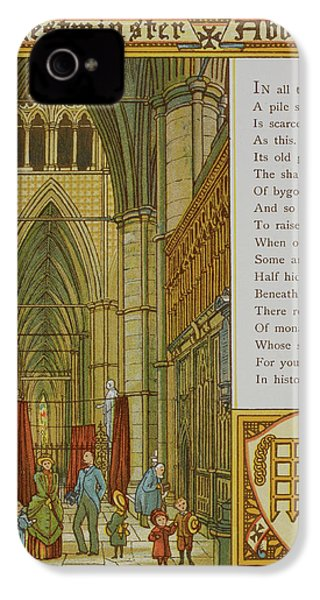 Westminster Abbey IPhone 4 Case by British Library