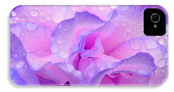 Wet Rose In Pink And Violet IPhone 4 Case by Nareeta Martin