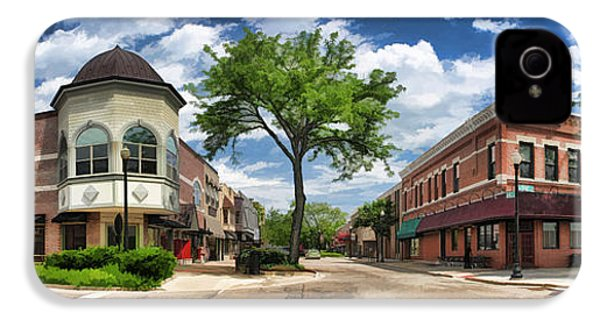 Wheaton Front Street Panorama IPhone 4 Case by Christopher Arndt