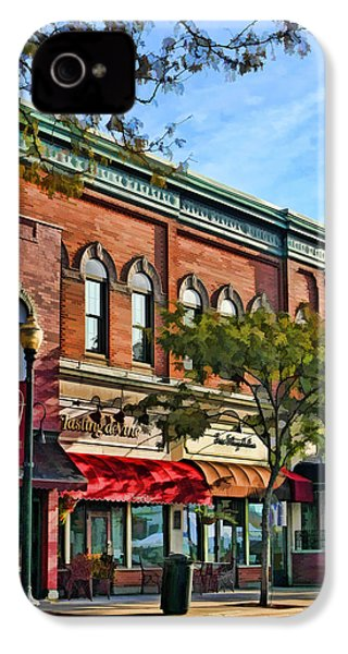 Wheaton Front Street Stores IPhone 4 Case by Christopher Arndt