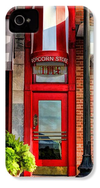 Wheaton Little Popcorn Shop Panorama IPhone 4 Case by Christopher Arndt