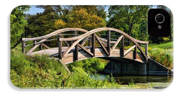 Wheaton Northside Park Bridge IPhone 4 Case by Christopher Arndt