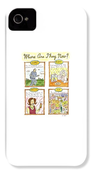 Where Are They Now? IPhone 4 Case by Roz Chast