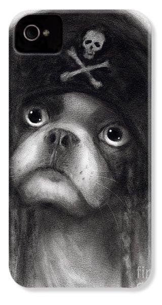 Whimsical Funny French Bulldog Pirate  IPhone 4 / 4s Case by Svetlana Novikova