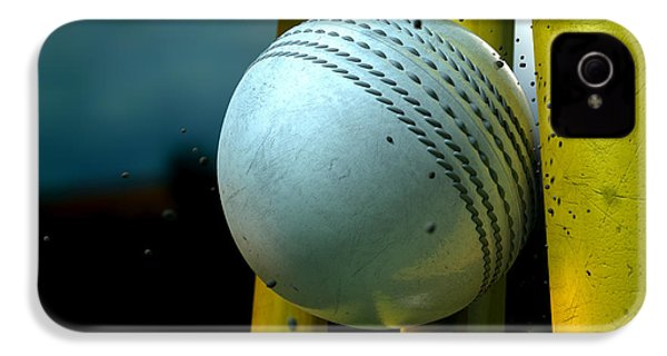 White Cricket Ball And Wickets IPhone 4 / 4s Case by Allan Swart
