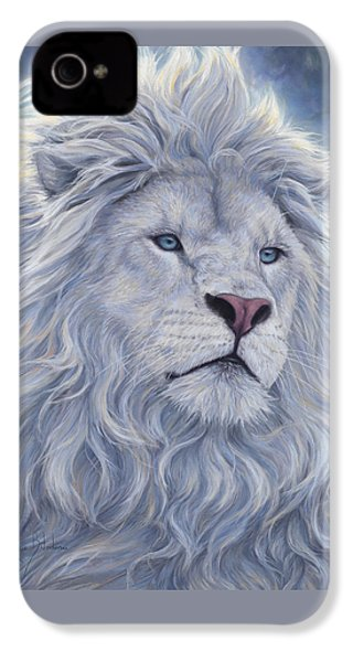 White Lion IPhone 4 Case by Lucie Bilodeau