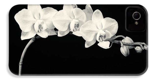 White Orchids Monochrome IPhone 4 Case