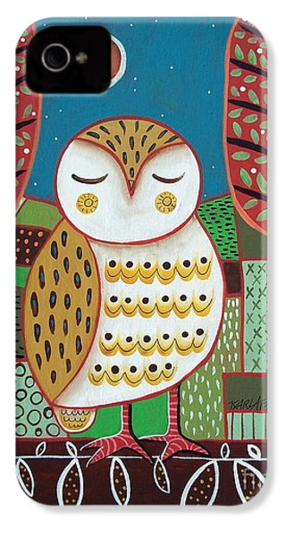 White Owl IPhone 4 Case by Karla Gerard