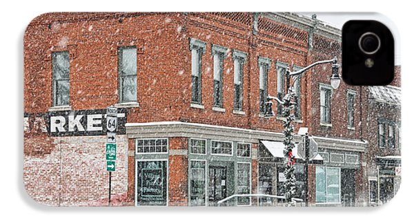 Whitehouse Ohio In Snow 7032 IPhone 4 / 4s Case by Jack Schultz