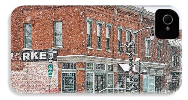 Whitehouse Ohio In Snow 7032 IPhone 4 Case