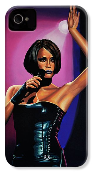 Whitney Houston On Stage IPhone 4 Case by Paul Meijering