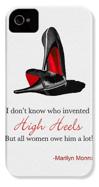 Who Invented High Heels? IPhone 4 / 4s Case by Rebecca Jenkins