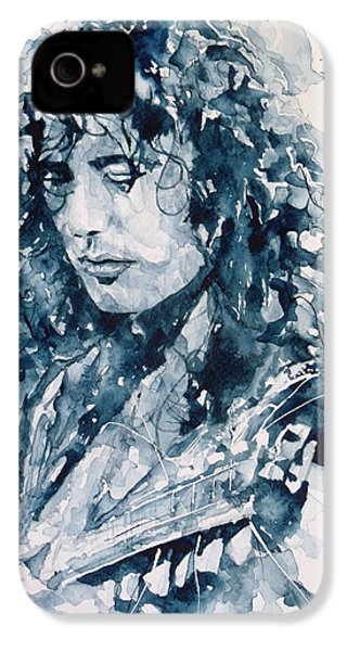 Whole Lotta Love Jimmy Page IPhone 4 Case by Paul Lovering