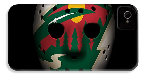 Wild Goalie Mask IPhone 4 Case by Joe Hamilton