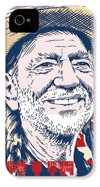 Willie Nelson Pop Art IPhone 4 Case
