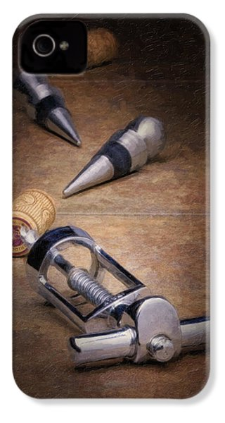 Wine Accessory Still Life IPhone 4 Case by Tom Mc Nemar