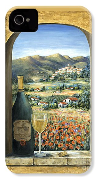 Wine And Poppies IPhone 4 Case by Marilyn Dunlap