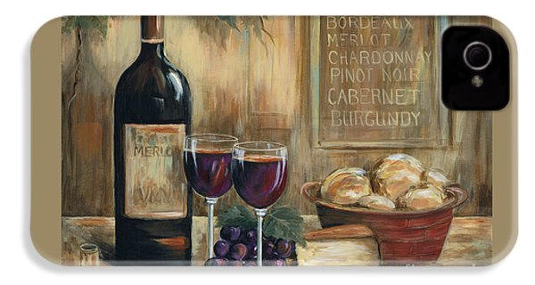 Wine For Two IPhone 4 Case by Marilyn Dunlap