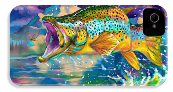 Wings And Fins  IPhone 4 Case by Yusniel Santos