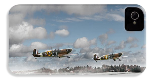 Winter Ops Spitfires IPhone 4 Case by Gary Eason