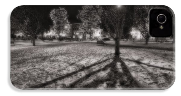 Winter Shadows And Xmas Lights IPhone 4 Case by Sven Brogren